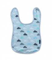 Bulut Desenli Bebek Mama Önlüğü 25*25 Cm