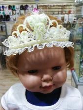 Incili Çiçekli Kraliçe Tacı