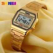 Skmei Sade Ve Şık Bayan Kol Saati Lüks Gold Tasarım Orjinal Saat