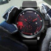 Sinobi Kırmızı Tasarım Spor Erkek Kol Saati Multifonsiyon Saat