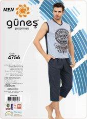 Güneş 4756 Sıfır Kol Erkek Kapri Pijama Takımı