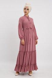 Loreen Kadın Gül Elbise 22119
