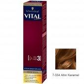 Vital Tüp Saç Boyası 7.554 Altın Karamel