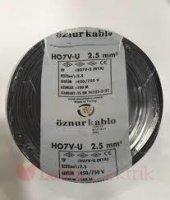 öznur 2,5 Mm Nya Kablo Siyah 100 Metre 100 Bakır