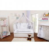 Maya Baby Collection İsme Özel Uyku Seti 70*130 Gri Beyaz