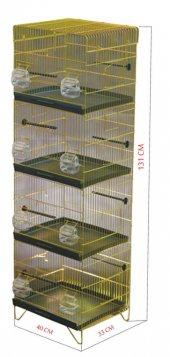 Canser 4 Katlı Sarı Galvaniz Kafes (C 509)