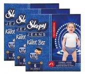 Sleepy Jeans Külot Bebek Bezi 6 Beden 15 25 Kg 20li 3lü 60 Adet