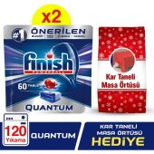 Finish Quantum 60x2 Tablet Bulaşık Deterjanı + Mas...