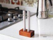 Gönül Porselen Bambu Standlı Paslanmaz Çelik 2li T...