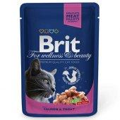 Brit Premium Salmon Trout Kedi Yaş Maması 100 Gr...