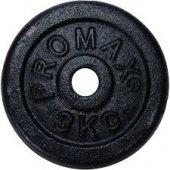 Promax Tekli Dambıl Siyah Döküm Plaka