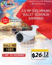 2.0 Mp (Dış Mekan) Bullet Güvenlik Kamerası (Hd 1080p)