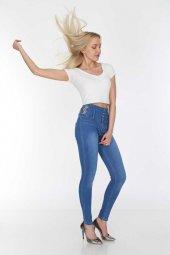 Yüksek Bel Kadın Kot Pantolon Full Power Likralı