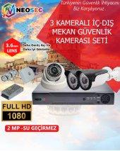 3 Kameralı Güvenlik Kamerası Seti (Hd 1080p)