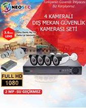 4 Kameralı Dış Mekan Güvenlik Kamerası Seti(Hd 1080p)