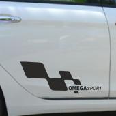 Opel Omega Yan Sport Oto Sticker Sağ Sol 2 Adet