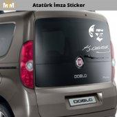 Atatürk İmza Oto Sticker