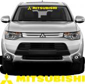 Mitsubishi Ön Cam Oto Sticker