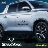 Ssangyong Yan Kapı Off Road Oto Sticker 1 Adet