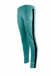 Kadın Su Yeşili Sporcu Eşofman Altı Siyah Şerit