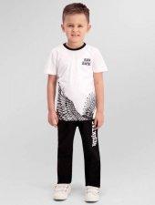 Rolypoly Çocuk Lisanslı Beşiktaş Beyaz Pijama Takımı 9975 C