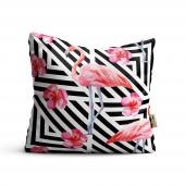 Flamingo Desenli Dijital Baskılı Dekoratif...