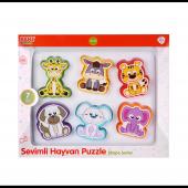Kanz Knz 30604 Sevimli Hayvanlar Eğitici Puzzle