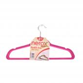 Nerox 4lü Fuşya Kadife Askı Nrx 8015