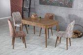 Elit Lüks Sümela Yemek Masası Ve 4 Adet Polo Sandalye Takımı