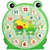 1 Adet Rakamlı Puzzle Bultak Saat Ahşap Oyuncak Ku...