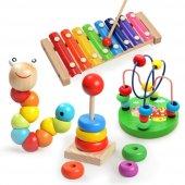 4lü Montessori Eğitim Ahşap Oyuncak Müzik Renk Ve ...