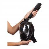 Dalış Şnorkel Maske Aksiyon Kamera Takılan Beden S M Siyah