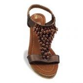 De Scario Boncuklu Topuklu Ayakkabı