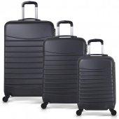 Bavyera Royal Abs 3 Lü Valiz, Bavul Seti (Kabin+orta+büyük Boy) 5