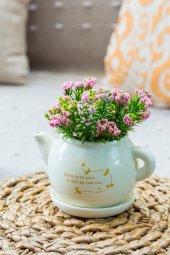 Tea Time Pembe Yapay Şimşir