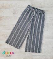 Kız Çocuk Çizgili Kapri Pantolon