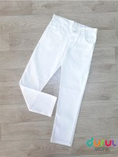 Kız Çocuk Beyaz Kot Pantolon