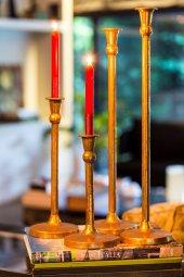 4lü Antique Altın Şamdanlık