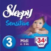Sleepy Sensitive Bebek Bezi 3 Numara Midi Ped Hediyeli 34 Adet