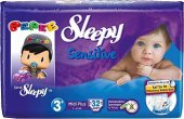Sleepy Sensitive Bebek Bezi 3 Numara Midi Plus Ped Hediyeli 32 Ad