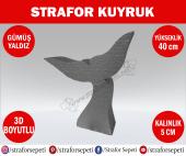 Strafor Sepeti Strafor Kuyruk 40 Cm Gümüş Yaldız Strafor Dekor, Strafor Parti, Strafor Doğum Günü