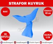 Strafor Sepeti Strafor Kuyruk 40 Cm Mavi Strafor Dekor, Strafor Parti, Strafor Doğum Günü