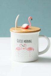 Flamingolu Dekoratif Kupa Bardağı (4)