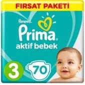 Prima 3 Numara Bebek Bezi 70 Adet Fırsat Paketi