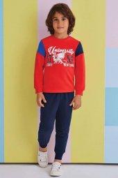 Roly Poly Erkek Çocuk Kırmızı Garson Eşofman Takımı 10 14 Yaş 134