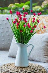 Fuşya Mini Rose Yapay Çiçek