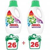 Ariel Parlak Renkler Sıvı Çamaşır Deterjanı 1,69lt 26 Yıkama X2
