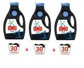 Omo Sıvı Siyah Konsantre Çamaşır Deterjanı 30 Yıkama 1950 Ml X3