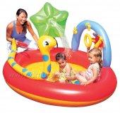 Bestway 53026 Şişme Çocuk Havuzu Fiskiyeli Kelebekli+pompa