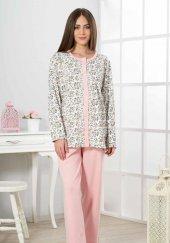 Estiva 19316 Bayan Önden Açık Boydan Düğmeli Anne Pijaması